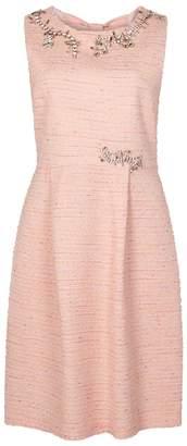 Moschino Crystal-embellished Tweed Shift Dress