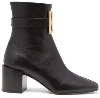Givenchy 4g Leather Boots - Womens - Black
