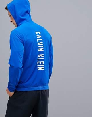 Calvin Klein back logo hooded track jacket