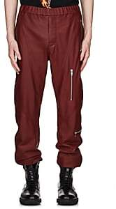 Givenchy Men's Leather Jogger Pants-Red