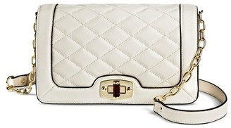 Merona Women's Faux Leather Quilted Crossbody Handbag with Turn Lock Closure and Chain Strap $29.99 thestylecure.com