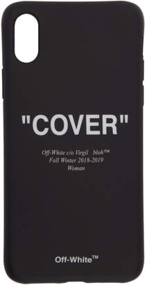 Off-White Black Quote iPhone X Case