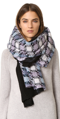 Standard Form Oversized Star Plaid Scarf $320 thestylecure.com