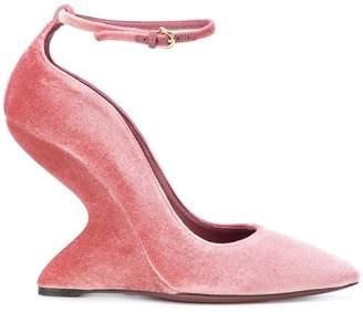 Salvatore Ferragamo sculpted-heel pumps
