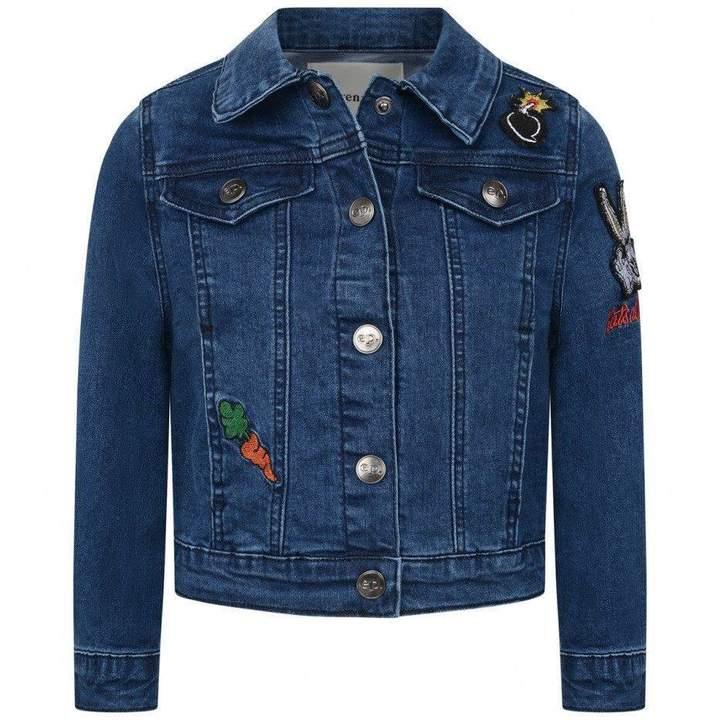 Little Eleven ParisBlue Denim Bugs Bunny Jacket