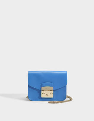 Furla Metropolis Mini Crossbody Bag in Celeste Ares Leather