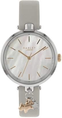 Ash St Dunstan's Grey Leather Watch