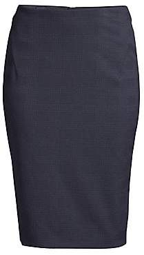 BOSS Women's Vilula Check Suiting Pencil Skirt - Size 0