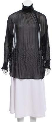 Dries Van Noten Silk Embellished Tunic