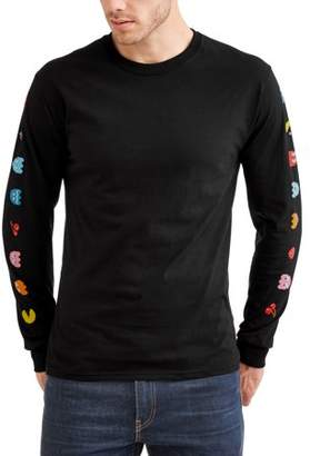 Gaming Men's Long Sleeve Pacman Graphic Tee, Size 2XL