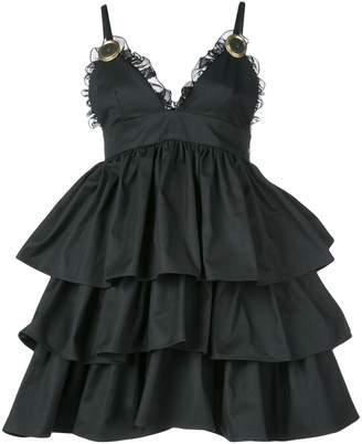 Fausto Puglisi layered drape mini dress