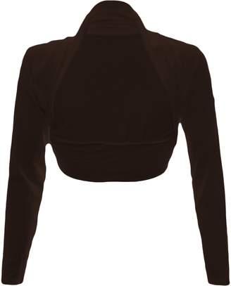 at Amazon Canada · Fashion Wardrobe Womens Long Sleeve Boleros Shrugs Tops  Ladies Casual Crop Cardigan Bolero Top ♥ ( 2b5a96e1f