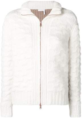 See by Chloe chunky contrast cardigan