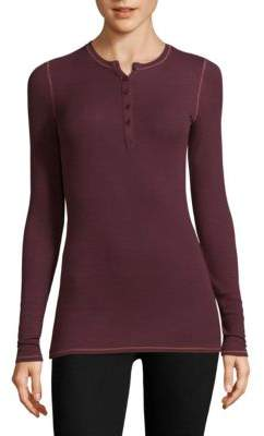 ATM Anthony Thomas Melillo Long-Sleeve Henley Top