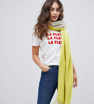 Stitch & Pieces reversible yellow and gray scarf