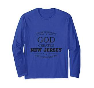 God Created Awesome New Jersey Cool Statement Graphic Tee