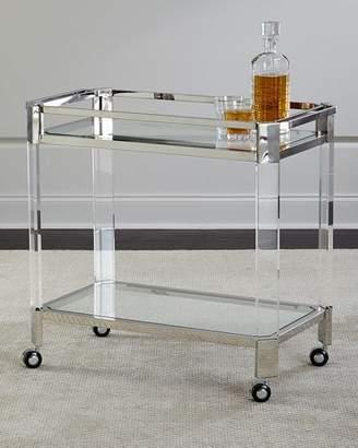 Safavieh Maxima Stainless & Acrylic Bar Cart