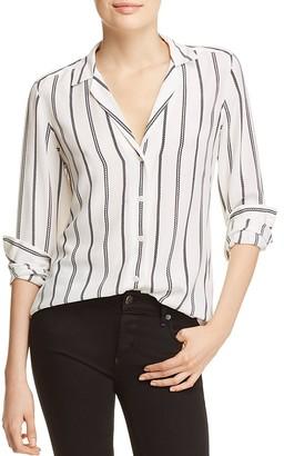 Equipment Adalyn Silk Geo Stripe Shirt $258 thestylecure.com