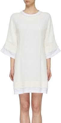 Sonia Rykiel Linen tweed overlay T-shirt dress