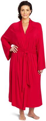 Casual Moments Women's Plus-Size Shawl Collar Wrap Robe