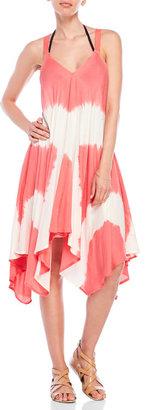 raviya Acid Wash Handkerchief Hem Dress $54 thestylecure.com