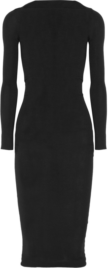 Lanvin Ruched wool dress