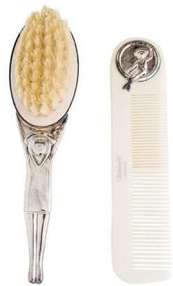 Christofle Baby Comb & Brush Set
