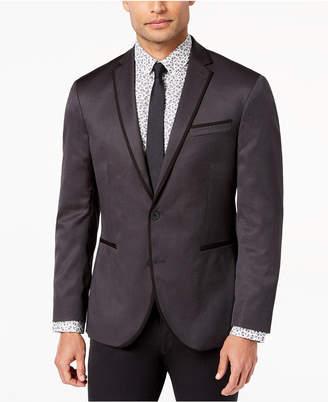 Kenneth Cole Reaction Men Slim-Fit Stretch Silver/Black Mini-Grid Dinner Jacket, Online Only