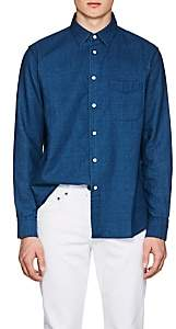 Rag & Bone Men's Standard Issue Cotton Chambray Beach Shirt - Bright Blue