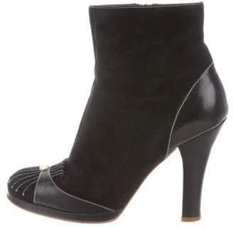 Marc Jacobs Suede Ankle Boots Black Suede Ankle Boots