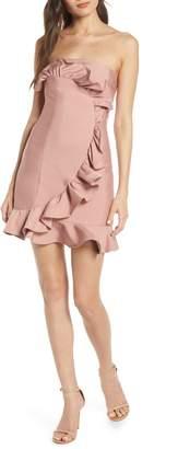 Keepsake the Label Daybreak Ruffle Strapless Minidress