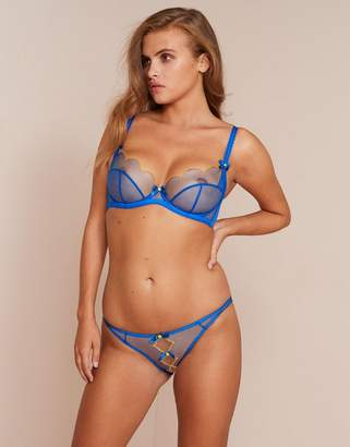 Agent Provocateur Lorna Ouvert Blue and Yellow