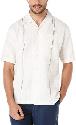 Cubavera Linen Short Sleeve Slub Camp Collar Shirt