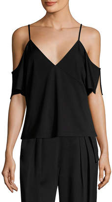 Alexander Wang T By Off-The-Shoulder Ponte Top