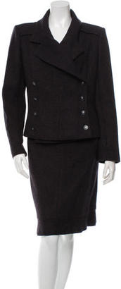 Chanel Cashmere Tweed Skirt Suit $995 thestylecure.com