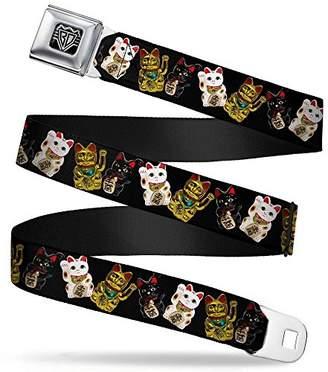 Buckle-Down Unisex-Adults Seatbelt Belt Lucky Cats Regular