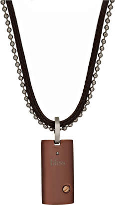 Damiani Bliss By Brown Stainless Steel Uomo Pendant Necklace w/ Diamond