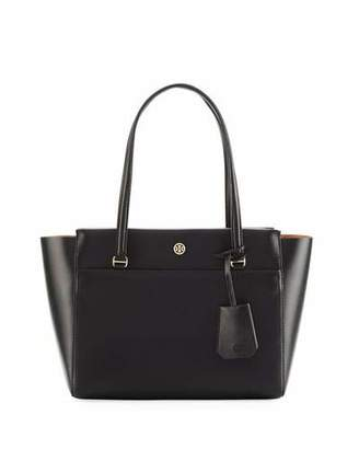 Tory Burch Parker Small Saffiano Tote Bag $265 thestylecure.com