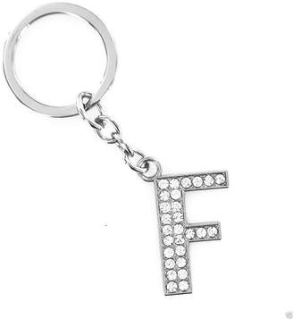 Bling Stars 26 Alphabet English Letters Crystal Initial Charms Keychain Key Ring