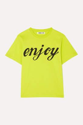 McQ Printed Cotton-jersey T-shirt - Bright yellow