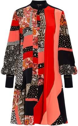 Roberto Cavalli Patchwork Mini Dress