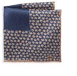 Brioni Men's Print Silk Pocket Square