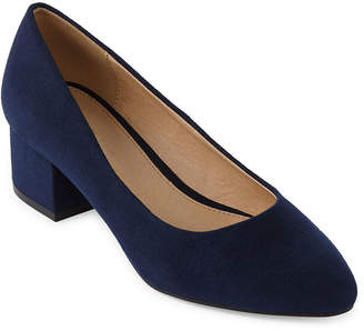 CL BY LAUNDRY CL by Laundry Womens Highest Pointed Toe Block Heel Slip-on Pumps