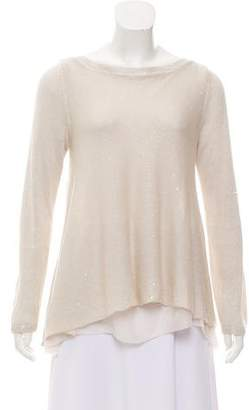 Brunello Cucinelli Embellished Linen-Blend Top