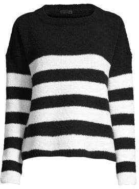ATM Anthony Thomas Melillo Chenille Stripe Sweater