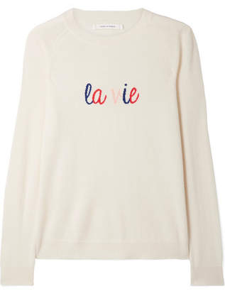 Chinti and Parker La Vie Intarsia Cashmere Sweater - Cream