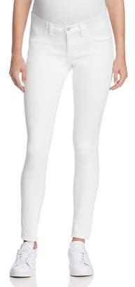 J Brand Mama J Skinny Maternity Jeans in Blanc