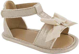 Baby Girl Wee Kids Bow & Shimmer Sandal Crib Shoes