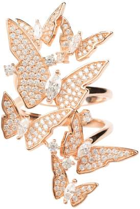 Rosegold Latelita - Flutter By Butterfly Cocktail Ring