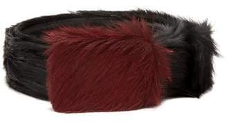 Prada Calf Hair Belt - Mens - Black Multi